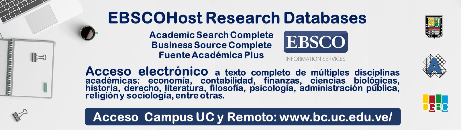Plataforma EbscoHost  (Acceso desde el Campus UC y vía remota)