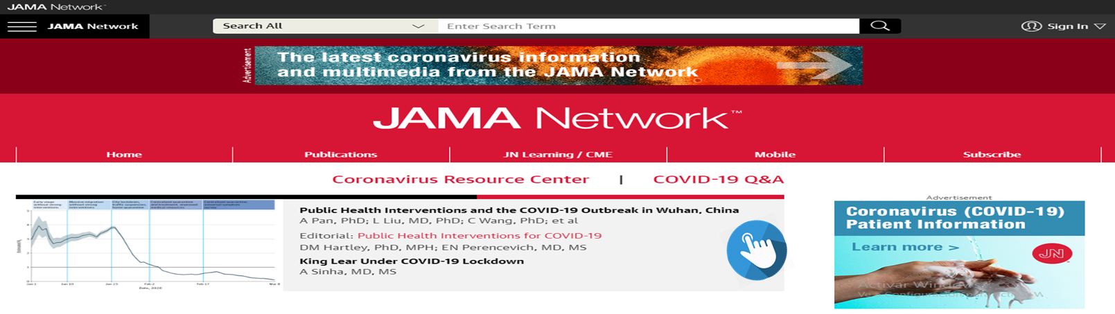 JAMA Network COVID-19. @JAMANetwork
