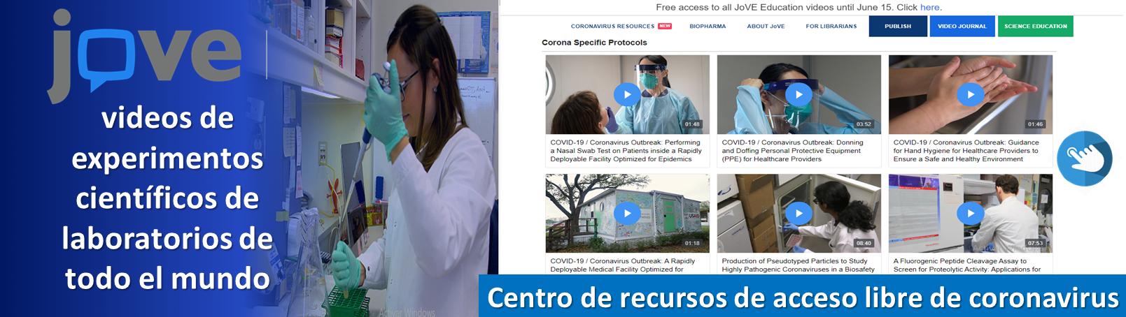 Centro de recursos de acceso libre de coronavirus. @JoVEJournal