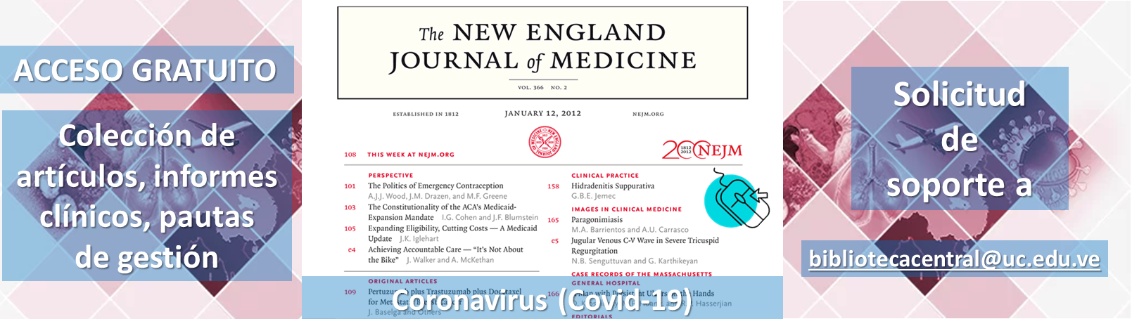 Coronavirus (Covid-19). The New England Journal of Medicine (@NEJM)